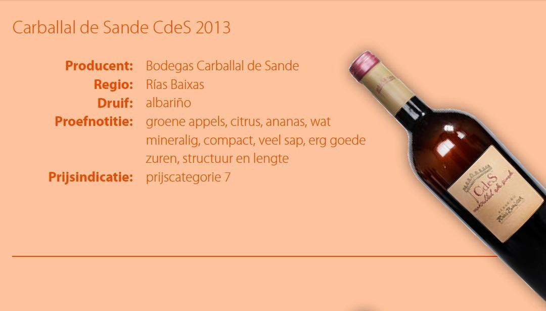Mención Honorífica para el Albariño CdeS 2013